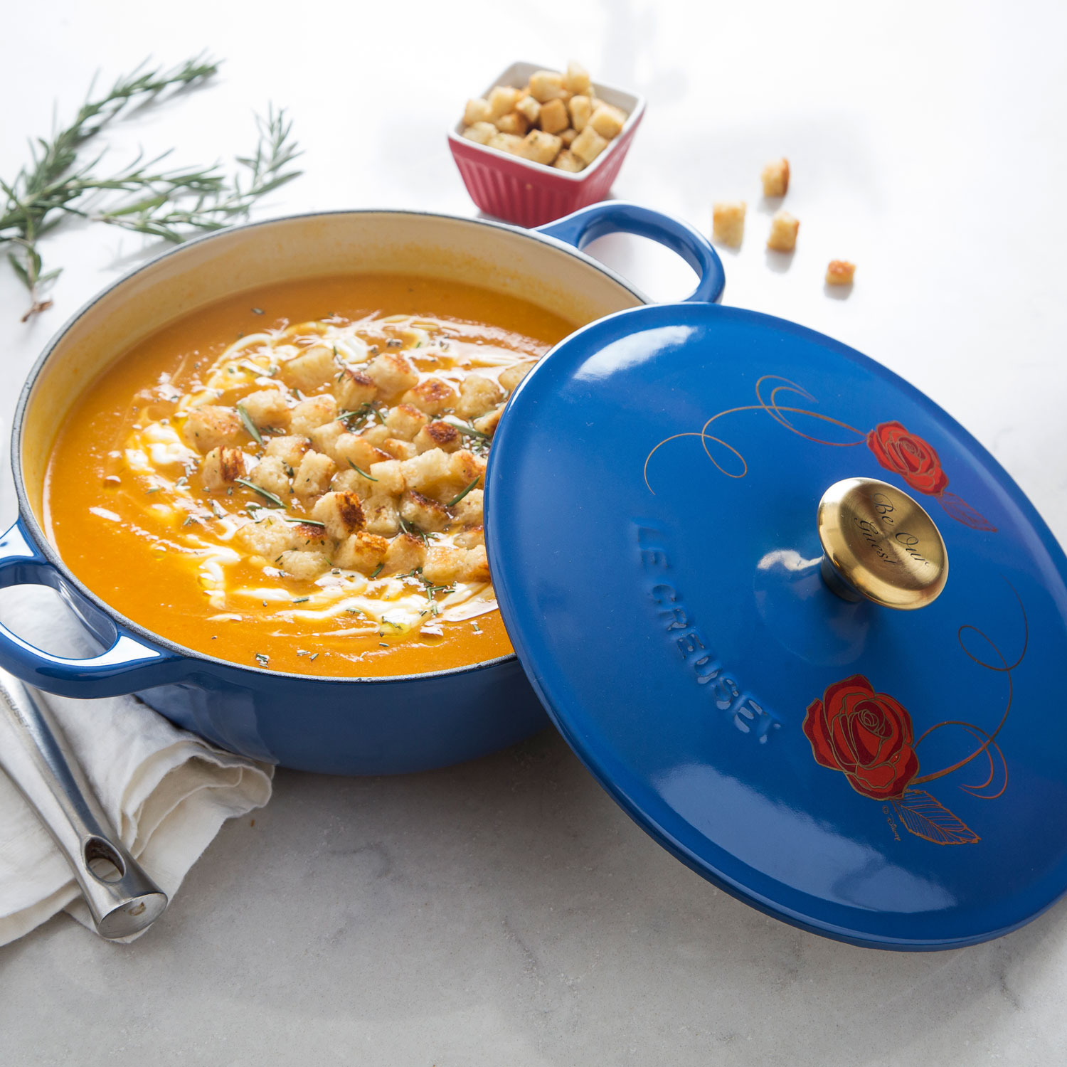NEW Le Creuset Beauty and the Beast Soup Pot