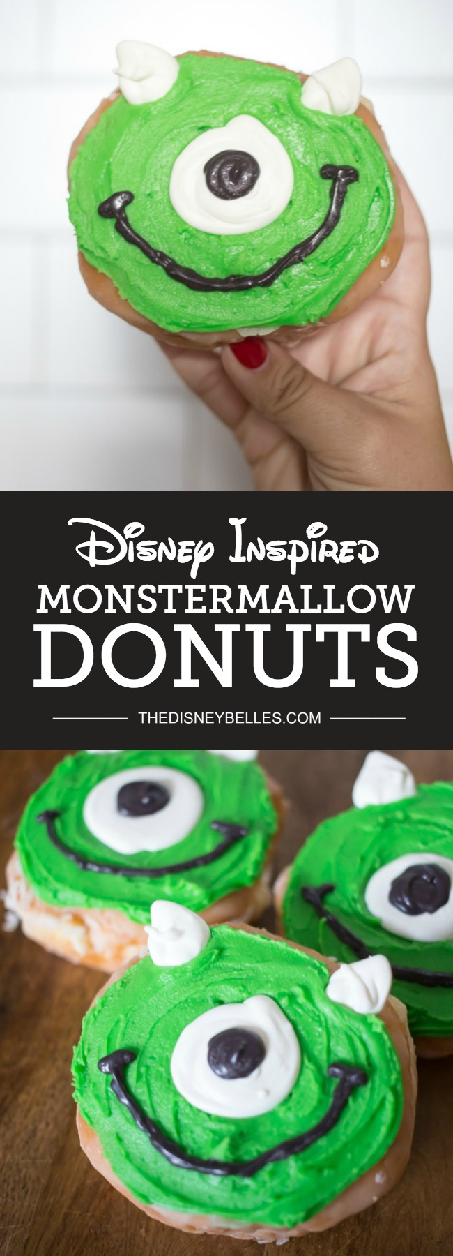 Can't make it to Disneyland for Halloweentime? Enjoy the next best thing, whip up these adorable Disneyland Monstermallow Donuts to enjoy from the comfort of home!