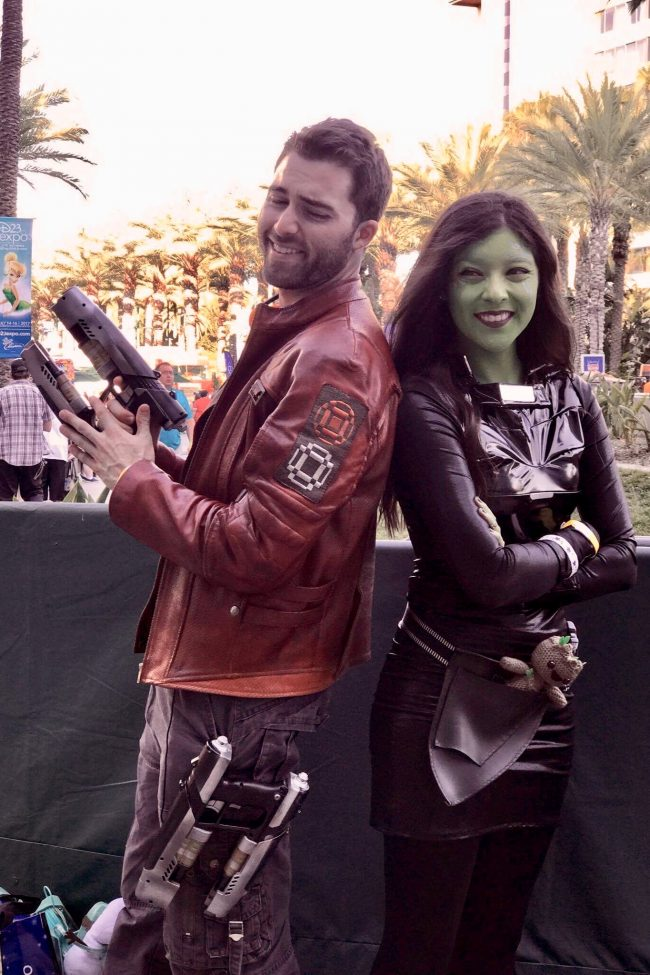 Starlord and Gamora from Guardians of the Galaxy | Best Disney Costumes from the D23 EXPO