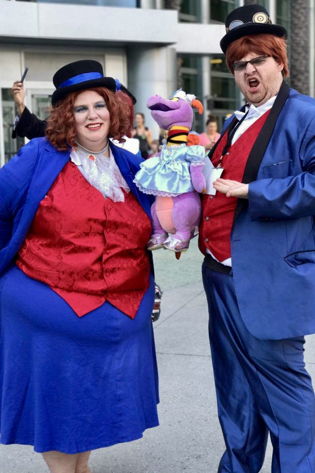 Figment and his Creator Dream Finder | Best Disney Costumes from the D23 EXPO