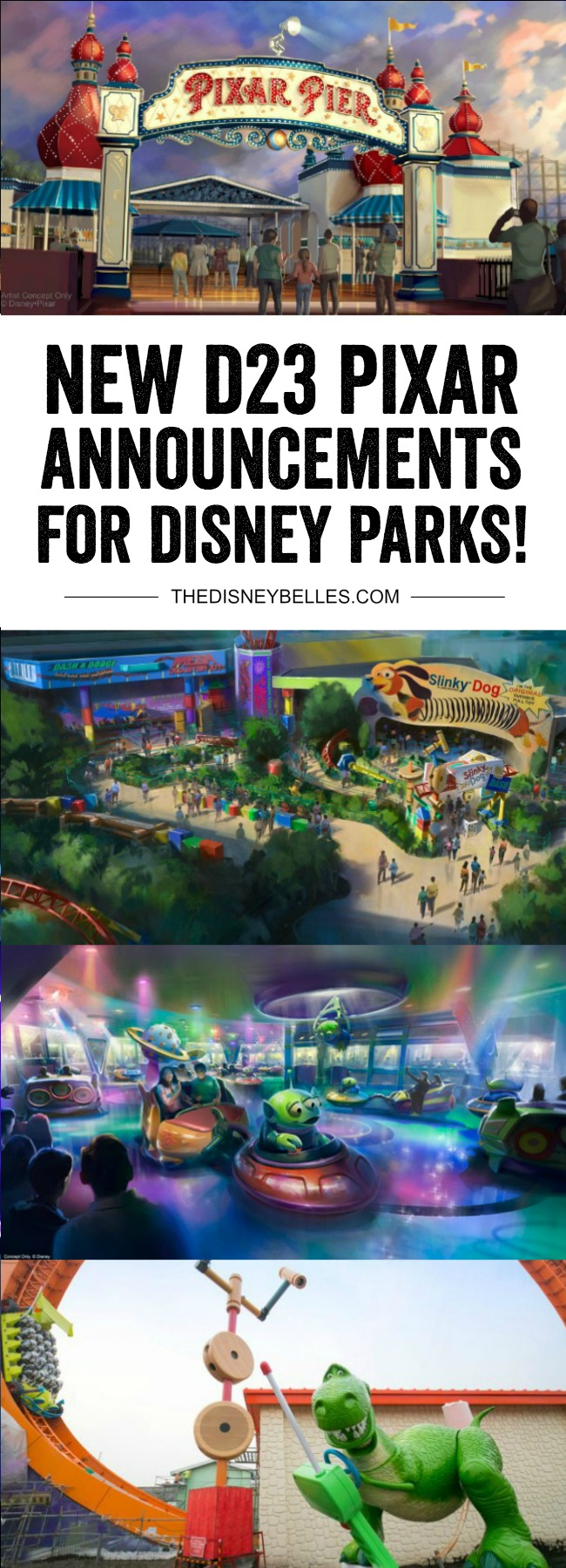 New Pixar Announcements for Disney Parks from D23! #Disney #D23 #Pixar