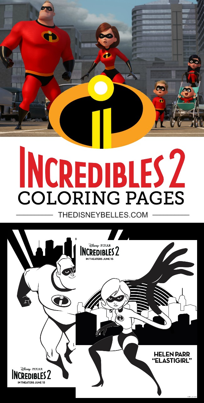 Download FREE Disney Pixar Incredibles 2 Coloring Pages in anticipation of the film release on June 15th! #Incredibles2 #DisneyPixar