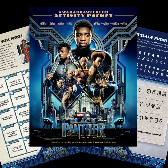 Download the Black Panther Activity Packet today! #BlackPanther