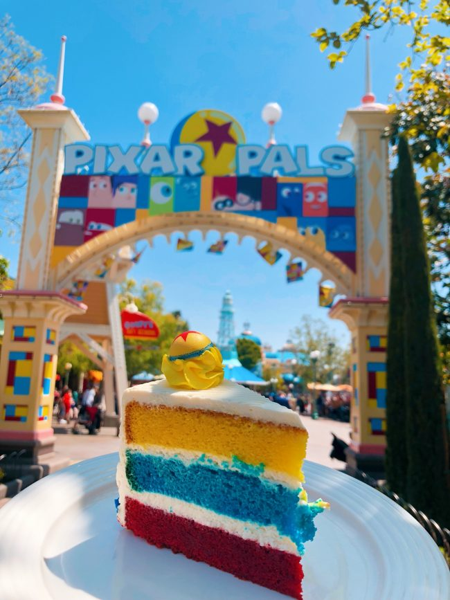 Pixar Lemon-Raspberry Cake. Various Locations, Disneyland Resort | Top 15 Disneyland Pixar Fest Foods #Disneyland #PixarFest