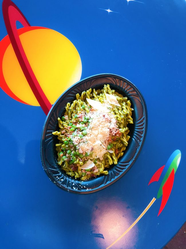 Green Miso Pesto-Pasta. Alien Pizza Planet, Tomorrowland | Top 15 Disneyland Pixar Fest Foods #Disneyland #PixarFest