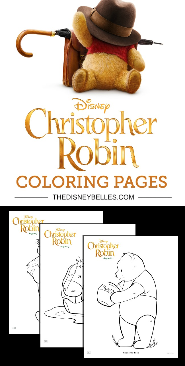 Disney S Christopher Robin Coloring Pages The Disney Belles