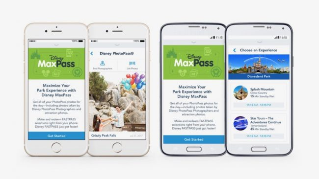 Digital Fastpass and MaxPass