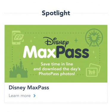 Disneyland Digital Fastpass and MaxPass